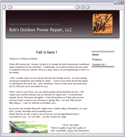Bob's Outdoor Power Repair, LLC - Home - Plymouth, MN